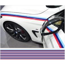 BMW M pruge naljepnica pruge pruge 200cm x 12mm 6kom. set