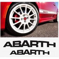 Abarth naljepnica za kočiona kliješta set naljepnica 4kom. 70mm + 90mm