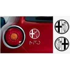 Alfa Romeo bočne naljepnice 2kom. kit 10cm