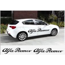 Alfa Romeo naljepnica bočna set naljepnica 2kom. L+D 150cm
