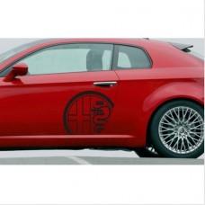 Alfa Romeo naljepnica bočna set naljepnica 2kom. L+D 58cm