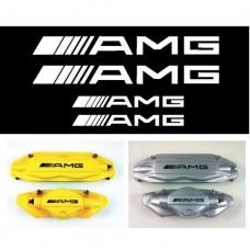 AMG Mercedes naljepnica za kočiona kliješta naljepnica - 4kom. set 87mm + 107mm