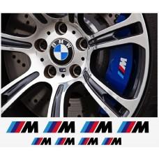 BMW M naljepnica za kočiona kliješta - felge - retrovizor naljepnica - 8kom. set
