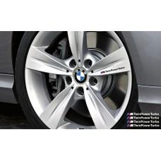 BMW M TwinPower Turbo naljepnica za kočiona kliješta naljepnica za retrovizor naljepnica za staklo naljepnica 4 kom., 140mm