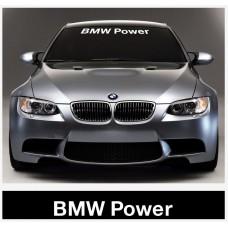 BMW Motorsport vjetrobranska naljepnica + BMW Power vjetrobranska set