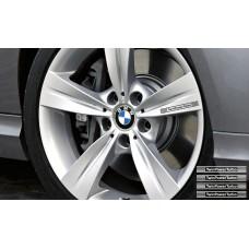 BMW TwinPower Turbo naljepnica za kočiona kliješta naljepnica za retrovizor naljepnica za staklo naljepnica 4 kom., 140mm