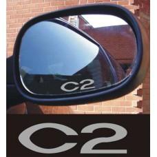 Citroen C2 naljepnica za kočiona kliješta - felge - retrovizor naljepnica - 8kom. set