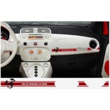 Fiat 500 ABARTH armaturna naljepnica 2kom. ABARTH ESSEESSE