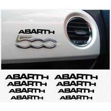 Fiat 500 ABARTH armaturna naljepnica 8kom.