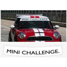 MINI Challenge vjetrobranska naljepnica