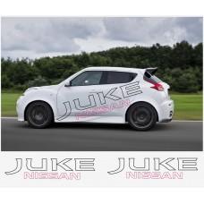 Nissan Juke Nismo motorsport bočne naljepnica 180cm 2 kom.