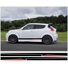 Nissan Juke Nismo motorsport bočne naljepnica 190cm 2 kom.