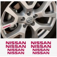 Nissan naljepnica za kočiona kliješta - felge - retrovizore naljepnica – 4+4 kom. in Set