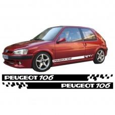 Peugeot 107 set bočnih naljepnica