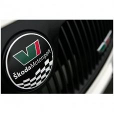 Skoda Motorsport Emblem naljepnica Ø 79 mm