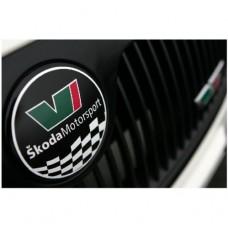 Skoda Motorsport Emblem naljepnica Ø 89 mm