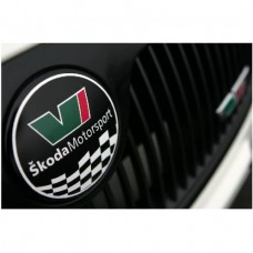 Skoda Motorsport Emblem naljepnica 2 kom. set Ø 89 mm + Ø 79 mm