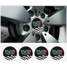 Skoda Motorsport VRS naljepnica 4 kom. set Ø 55-65 mm