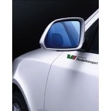 Skoda Powered by Skoda Motorsport RS bočne naljepnica 300mm 2 kom. set