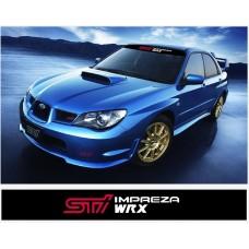 Subaru Impreza STI WRX vjetrobranska naljepnica