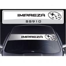 Subaru Impreza vjetrobranska naljepnica