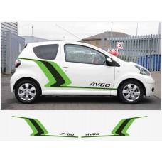 Toyota Aygo bočne set naljepnica