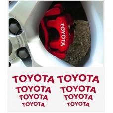 Toyota naljepnica za staklo- naljepnica za kočiona kliješta- naljepnica za retrovizor naljepnica - 8 kom. in Set