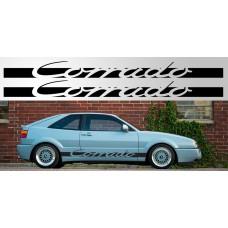 Volkswagen Corrado Vinyl naljepnica vjetrobranska Version 2
