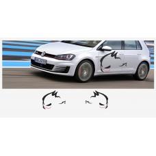 VW Evil Rabbit Racing bočne naljepnica 110cm 2 kom. set