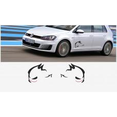 VW Evil Rabbit Racing bočne naljepnica 50cm 2 kom. set