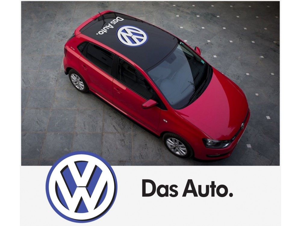 Vw Volkswagen Krovna Naljepnica Das Auto Naljepnica 2 Kom Set Vwg0059